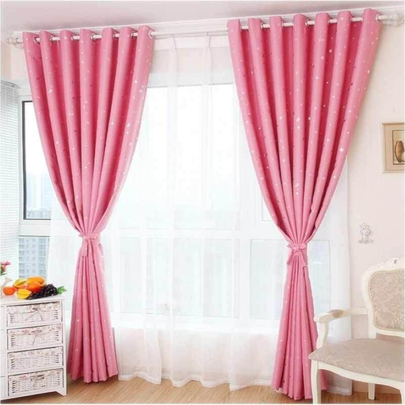 100*250cm Mosquito Net Living Room Balcony Curtains Star Printing - intl