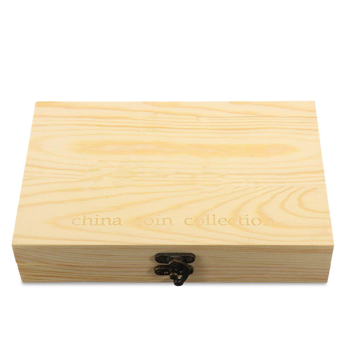 100pcs Round Wood Coins Display Storage Box Collectible Case For Certified Coin - intl