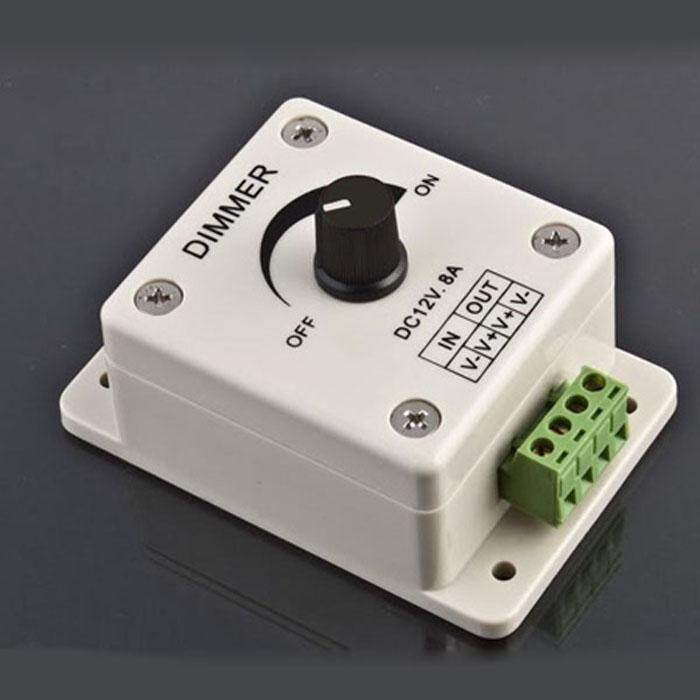 12V 8A PIR Sensor LED Strip Light Switch Dimmer Brightness Controller - intl Singapore