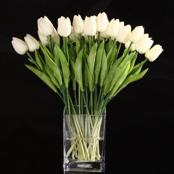 20pcs Tulip Flower Latex Real Touch For Wedding Decor Flower Best Quality KC451 - intl