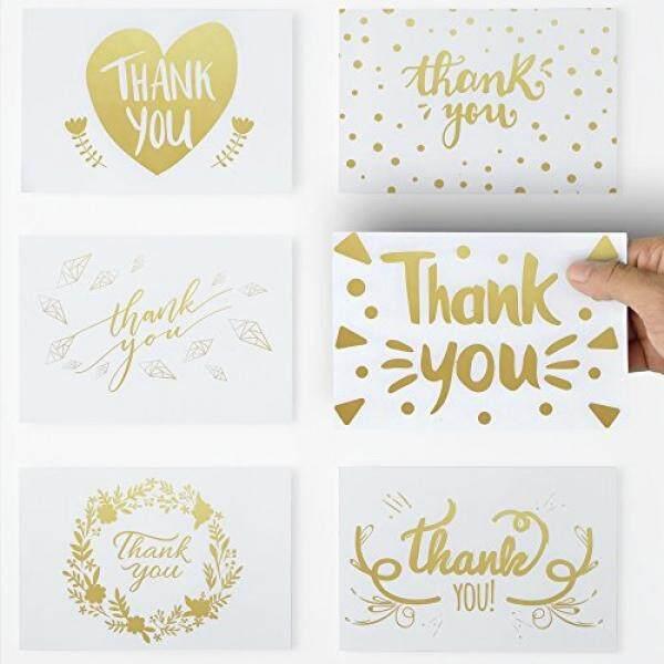 36 Unik Terima Kasih Kartu dengan Teks Warna Emas, 6 Anggun Salam Desain Terima Kasih Kartu Catatan 4X6 dengan Diri Terpaku Amplop untuk Ulang Tahun, Pernikahan, bayi Pancuran, Wisuda, Acara Perusahaan. -Internasional