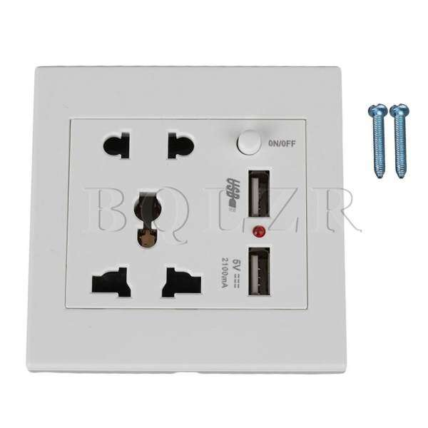 Buy 5 Hole Wall Plug and Wall Socket Power Switch with 2 USB Port ...