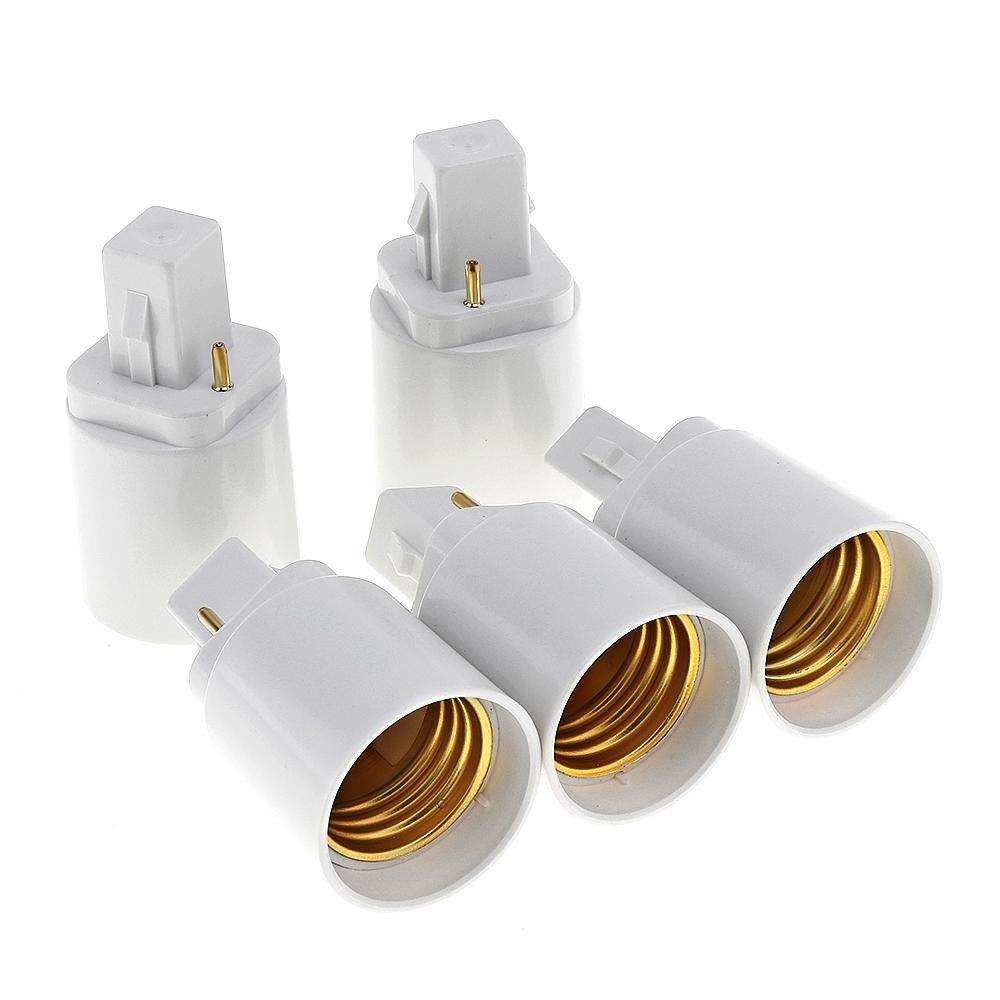G24 Bulb 2 Holder Universal E27 Light Converter Lamp Socket Base 5pcs Pin Adapter To Led v0mN8wn