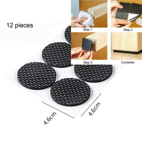 5pcs Self Stick Rubber Anti Skid Table Pad Chair Pad Furniture And Floor  Protectors