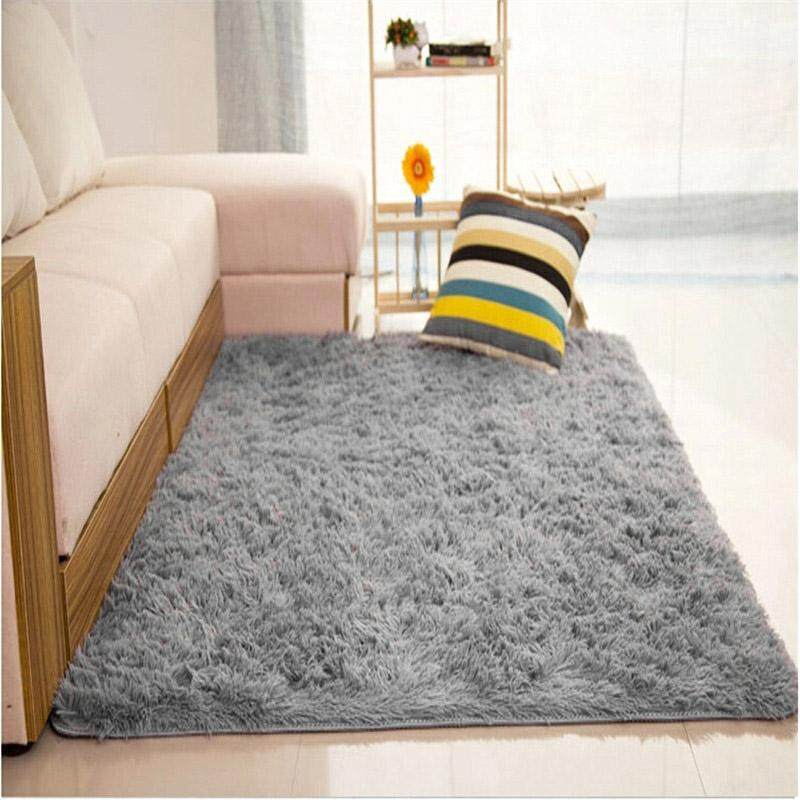 80x120cm Grey Living Room Floor Mat Yoga Carpet Area Rugs Bedroom Footcloth - intl