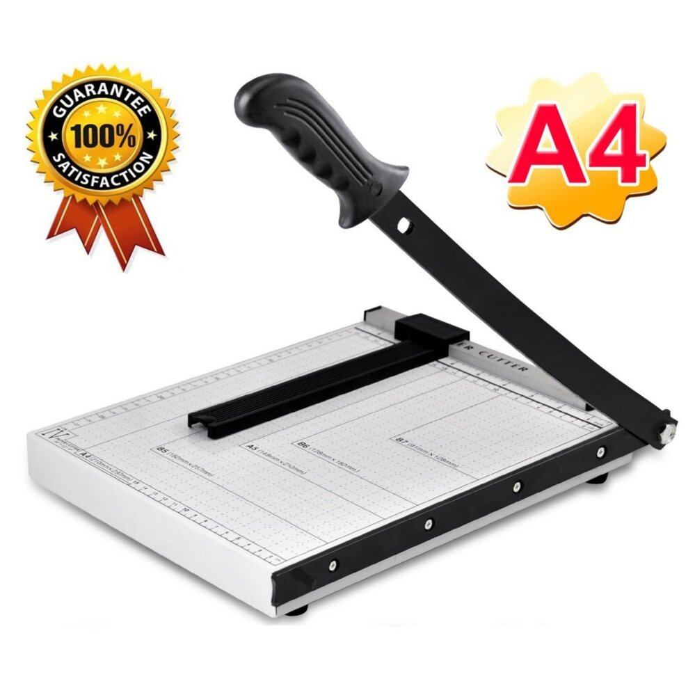 【A4 】Q-shop Professional Paper Cutter,Heavy Duty Metal Based Trimmer,High Quality for Office and Commercial Photocopy Printing Shop - intl