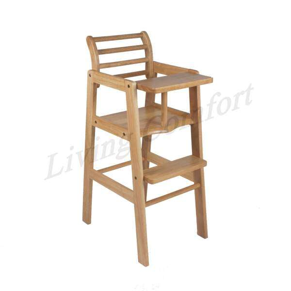BABY SOLID WOOD HIGH CHAIR / INFANT HIGH CHAIR (NATURAL) Malaysia