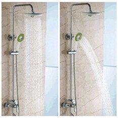 Hình ảnh Phòng tắm Tròn Phun Mưa Lượng Mưa Đầu Tắm + tay Sen tắm-intl