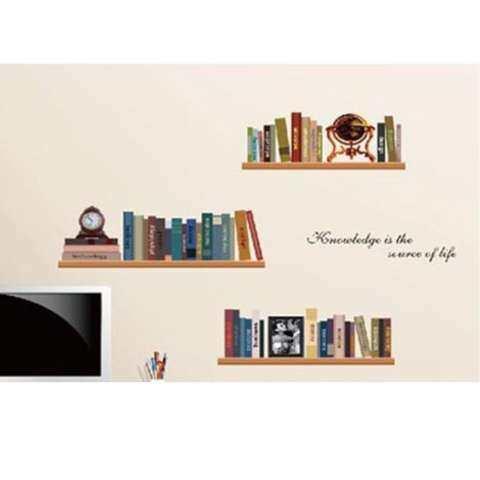 Blackhorse Rak Kreatif DIY Stiker Dinding Dekoratif Vintage Dekorasi Rumah Rak Dinding Dekoratif Stiker Dinding 1