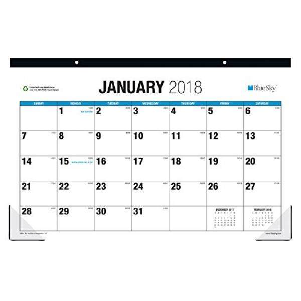 Biru Langit 2018 Bulanan Kalender Alas Meja, Cetak Besar, 17