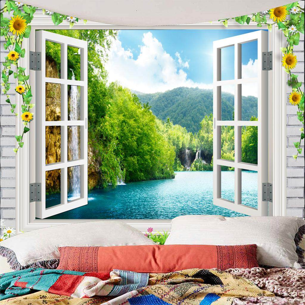 BolehDeals 1Piece Fashion 3D Wall Tapestry Beach Throw Picnic Mat DIY For Outdoor / Indoor - intl