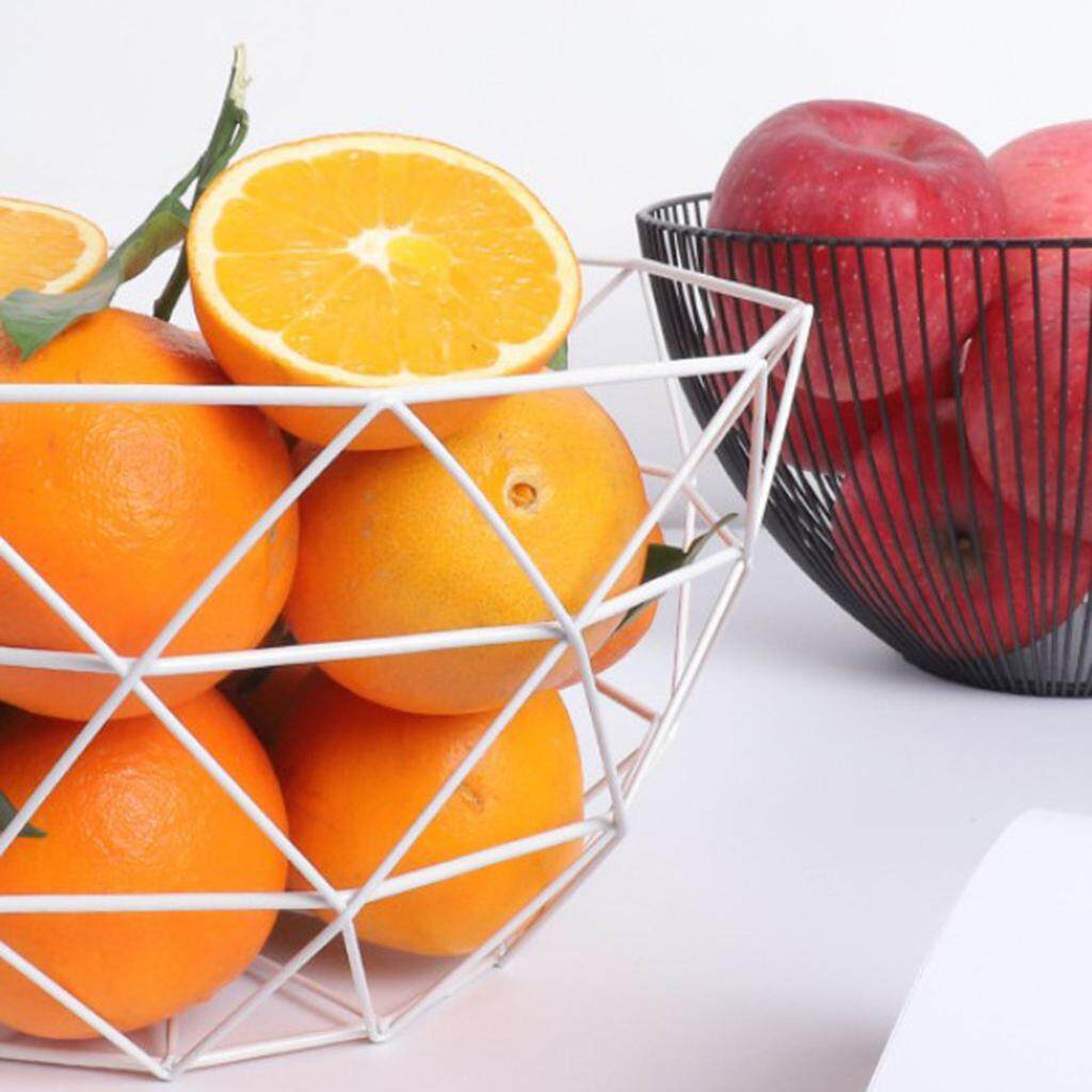BolehDeals 2 x Metal Wire Fruit Basket Bowl Food Serving Dish Candy Biscuit Snack Bowl - intl