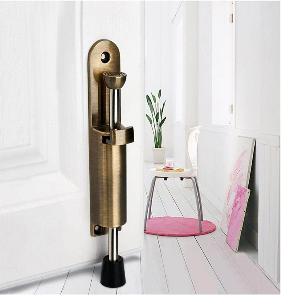 BolehDeals Kick Down Foot Operated Door Stop Zinc Alloy Stopper Prop Stay Bronze - intl