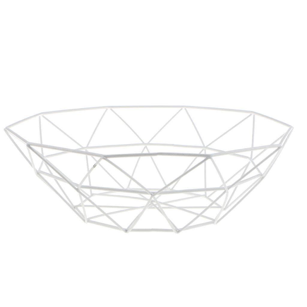 BolehDeals Nordic Style Iron Fruit Basket Display Bowl Snack Candy Storage Decorative - intl