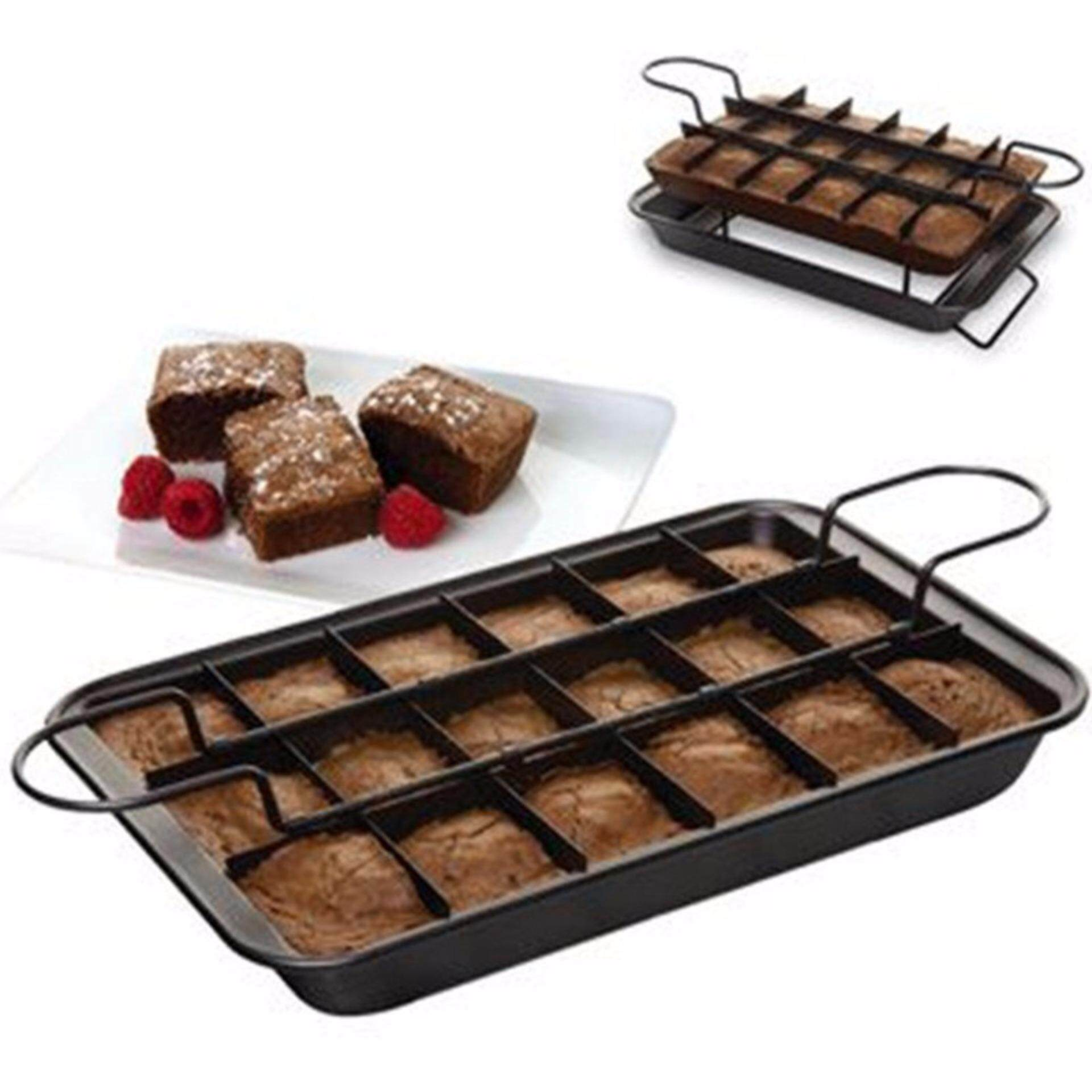 Brownie Pan,metallic Professional Slice Solutions Brownie Pan, 9-Inch-By-13-Inch - Intl By Cessna.