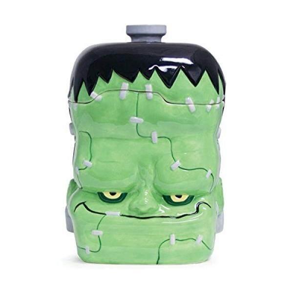 Buton dan Burton Halloween Dekor Keramik Frankenstein Monster Kue Kering Jar-Internasional