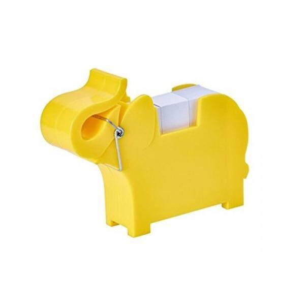 Chris-wang Multi-fungsional Plastik Hewan Boneka Memo Pemegang Klip Penyangga Note Alas Dispenser Organizer, dengan 200 Lembar Warna Acak 2.63X2.70 Memo Termasuk-Internasional