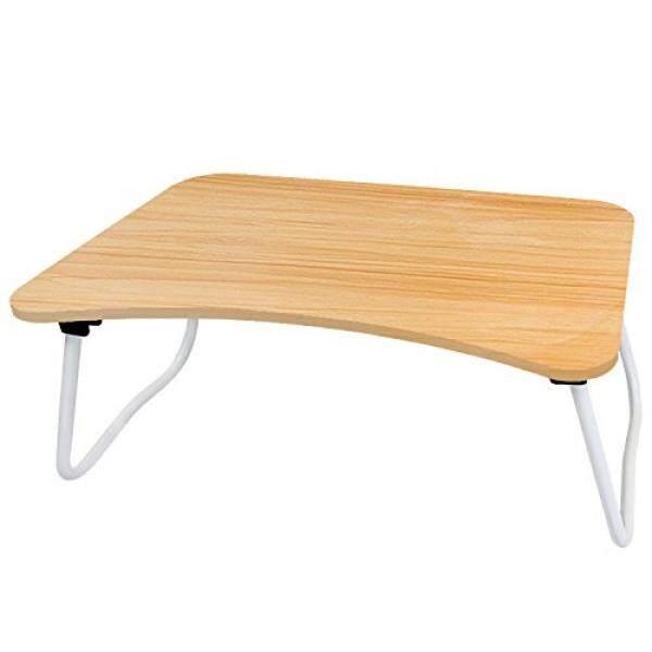 DL Furniture-Portabel Putaran Meja Tulis dengan Dilipat Bawah, W Bentuk Kaki Sempurna untuk Stasiun Laptop Anda Tablet Di Tempat Tidur Bambu Butir Kayu-Internasional
