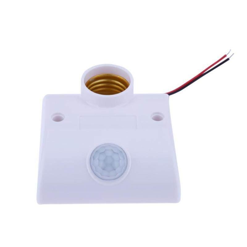 E27 Infrared Motion PIR Sensor Light Lamp Holder Switch Tide for Corridor (White)