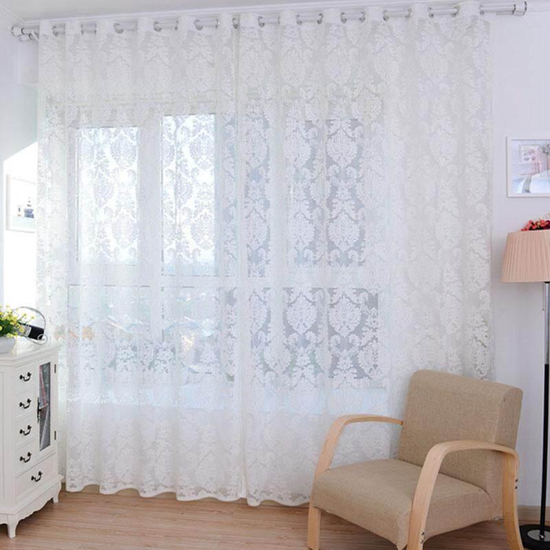 European style Tulle Door Window Curtain Drape Panel Sheer Scarf Valances - intl