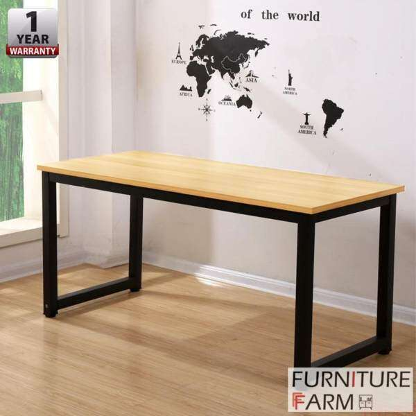 black office table. F\u0026F: [100cm X 60cm] Simple Home \u0026 Living Designer Office Table With Black Steel Frame Malaysia O