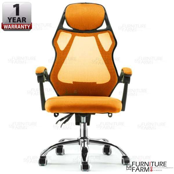 Fu0026F: Patriarca Black Frame Breathable Mesh High Back Office Chair Without  Footrest Malaysia