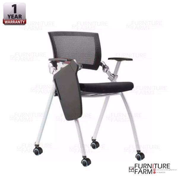 Fu0026F: Pragmatic Breathable Mesh Office Movable Training Chair With Rotatable  Writing Pad Malaysia