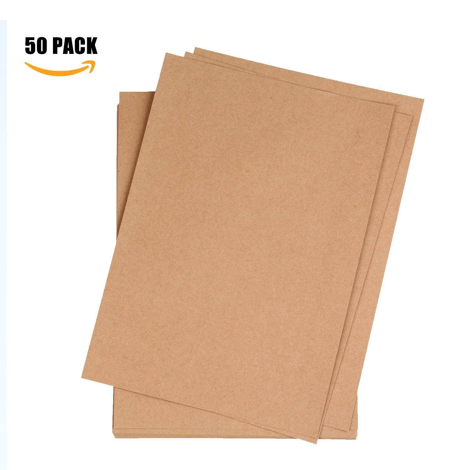 Foonee Kraft Paper, Pack Of 50 Natural Packing Wrapping Kraft Paper - 8.26x11.69inch - intl