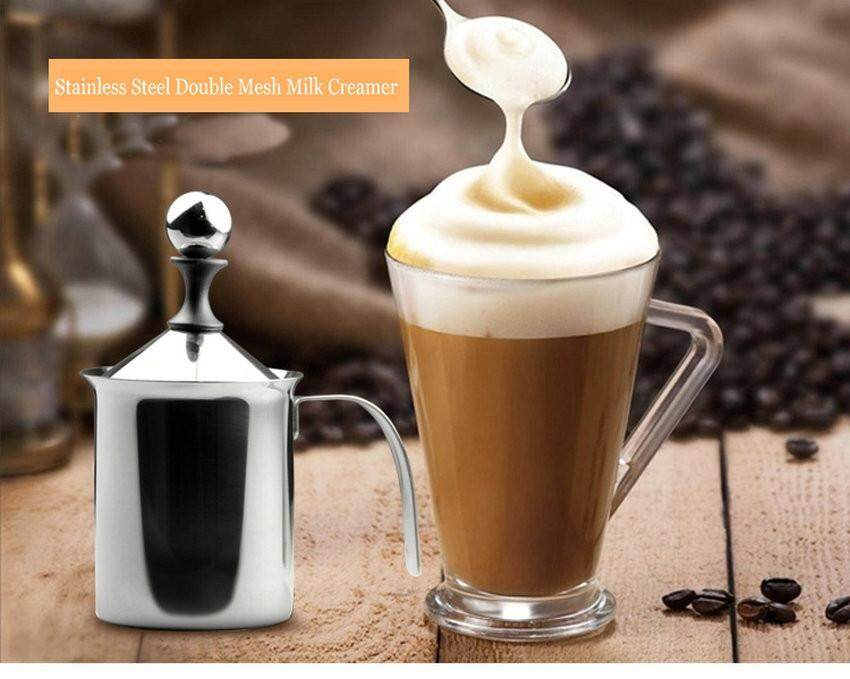 Fortunet 400ml Stainless Steel Milk Frother Hand Pump Double Mesh Milk Creamer - Intl By Fortunet.