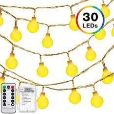 Lampu Bola Tali, Decornova 13 Kaki Ed Dioperasikan Peri Lampu Bohlam dengan 3 AA, pengendali Jarak Jauh & Sajak untuk Pesta Natal Kamar Tidur Pernikahan Liburan Hangat Putih