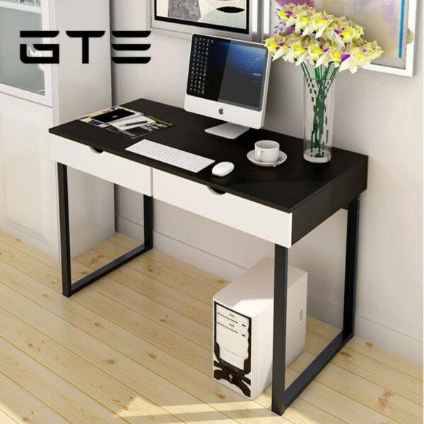 gte simple modern computer desk study table home office table with