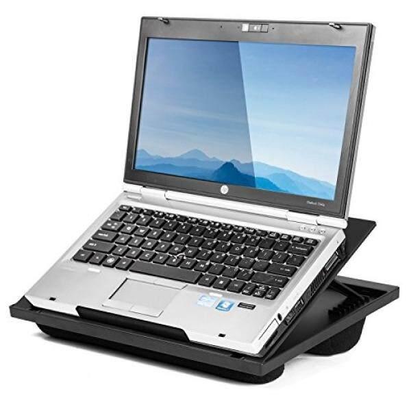 Halter Putaran Meja Tulis Laptop Penyangga dengan 8 Sudut Yang Dapat Disesuaikan dan Ganda Microbead Bantal-Internasional