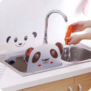 Home Living Kitchen Cleaning Tools Fisca 2Pc Flexible Sink Dam Body Kitchen Sink Water Splash Guard Spitting Baffle Board - intl