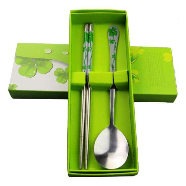 Honeymore Korean Stainless Steel Spoon + Chopsticks Set Tableware with Box-Green Malaysia  sc 1 st  Furniture Malaysia & Honeymore Korean Stainless Steel Spoon + Chopsticks Set Tableware ...