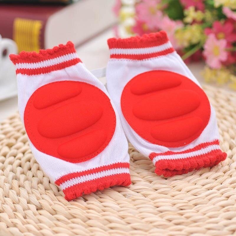 1Pair Baby Knee Pads Crawling Elbow Cushion Baby Childish Knee Protector Red