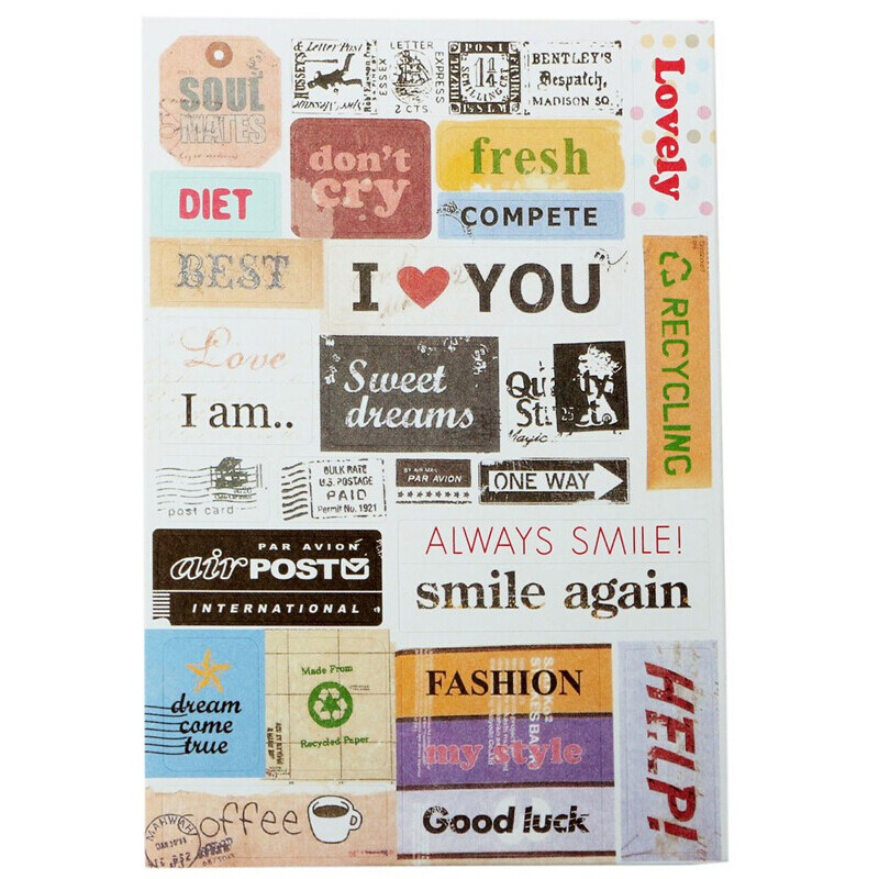Mua Retro DIY Paper Sticker for Diary Planner 6Pcs intl - intl