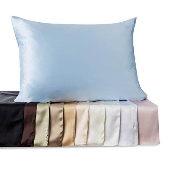 Kimspun Silk Pillowcase For Hair and Skin, 19 momme 100% Mulberry Silk Pillowcases Standard size, Tan, with Hidden Zipper by Shop Bedding - intl