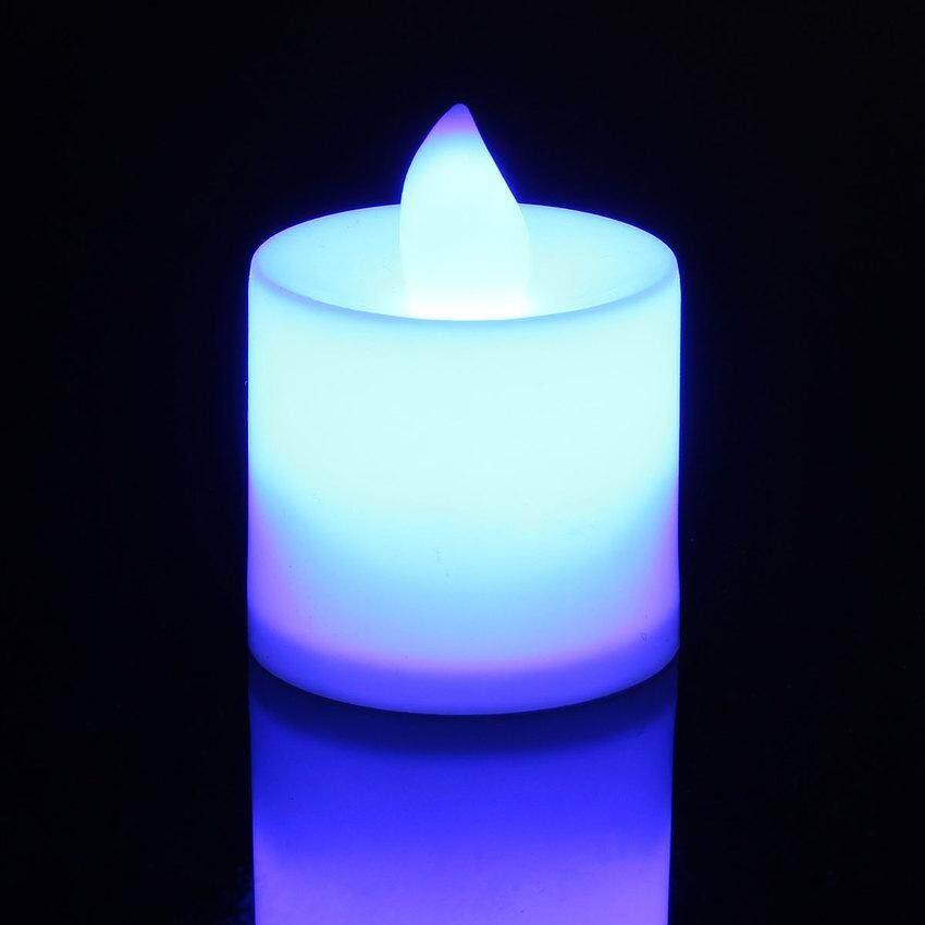 LED Chang Flash Flicker Flameless Battery Electronic Candle Tea Light 7 color - intl