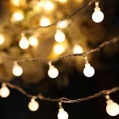Dsstyles LED Tali Lights, Putih Peri Lights, Anti-Air Dekoratif Starry Lights untuk Kamar Tidur Teras Pesta, baterai Bertenaga Ukuran: 2 Meter 10 Lampu Bohlam [Baterai Sering Terang]