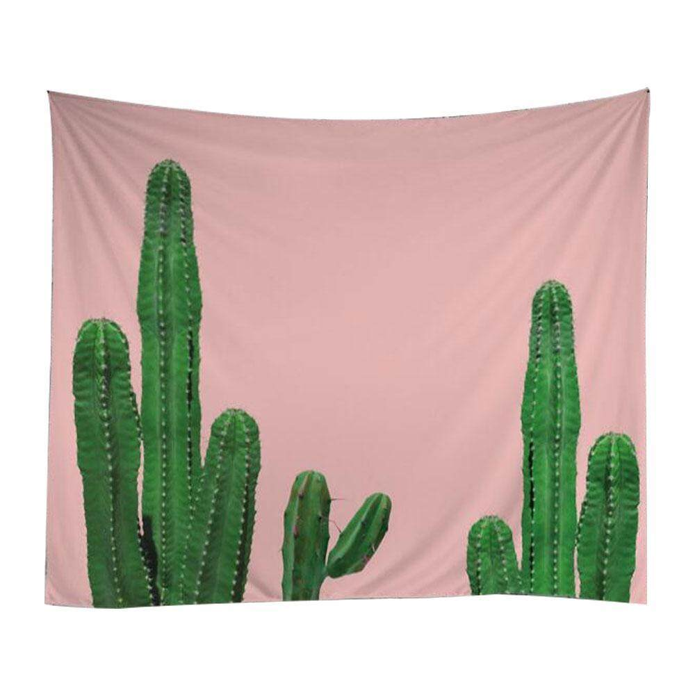 leegoal Cactus Wall Hanging Tapestry -Polyester Fabric Floral Wallpaper Home Decorations,Beach Towel Shawl Cushion(07) - intl