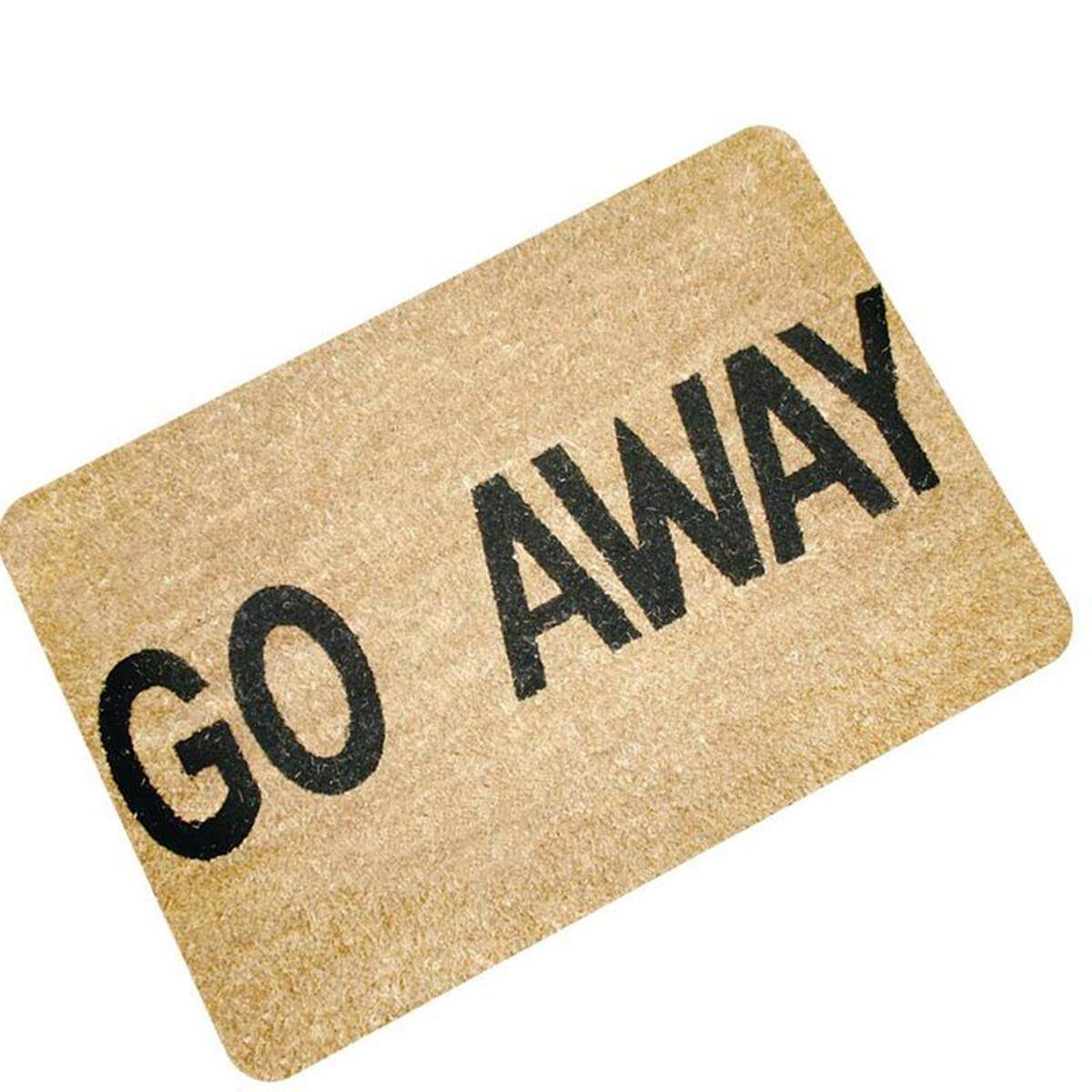 Letters Funny Door Mat Welcome Home Entrance Floor Rug Non Slip Doormat Carpet Go Away Intl Singapore