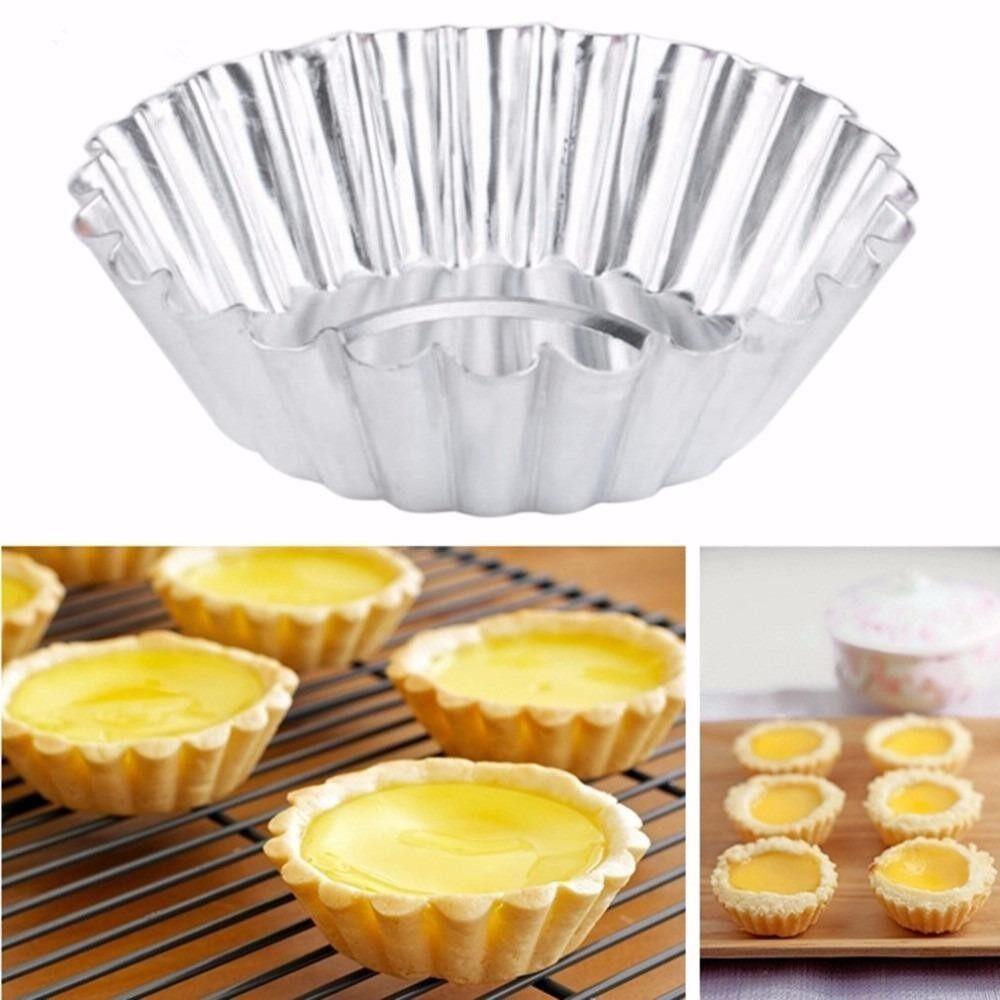LIU 1 Set (20Pcs) Egg Tart Mould Cake Mold Egg Tart Fruit Tart Mold