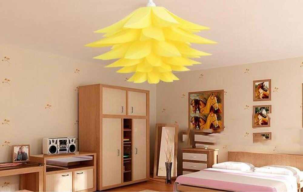 LumiParty Green Creative DIY Living Room Decorated Lotus Shade white Color:Yellow - intl - intl