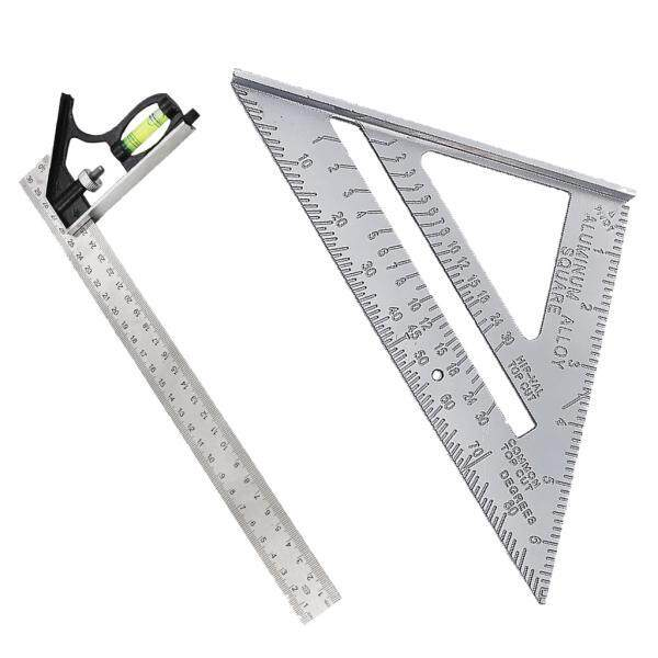 Magideal Measuring Square Triangle Ruler Engineers Combination Right Angle Ruler - Intl By Magideal.