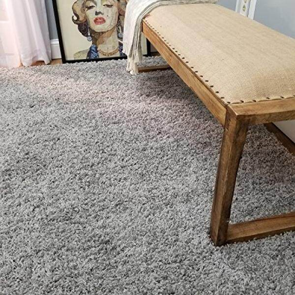 Maxy home bella solid grey 5 ft x 7 fthag area rug intl
