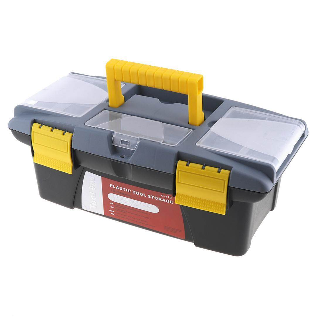 Medium Plastic Hardware Tool box for Home or Outdoor Finishing Debris with Storage Box and Black - intl