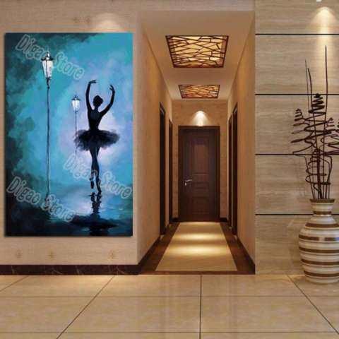 Abstrak Penari Balet Lukisan Tangan Dilukis Lukisan Pemandangan Menggunakan Cat Minyak Dekorasi Dinding Rumah Hadiah 3