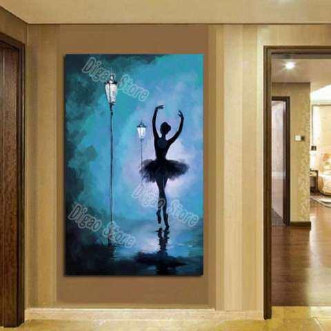 Abstrak Penari Balet Lukisan Tangan Dilukis Lukisan Pemandangan Menggunakan Cat Minyak Dekorasi Dinding Rumah Hadiah 1