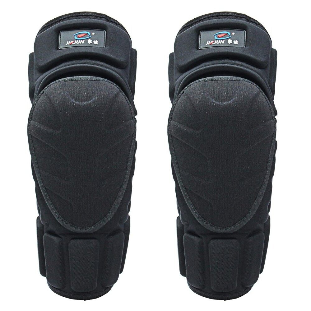 Moto Knee Pads Black Protective Motorcycle Kneepad Motorcycle Motocross Bike Bicycle Pads Knee Pads Protective Guards (Black)L - intl