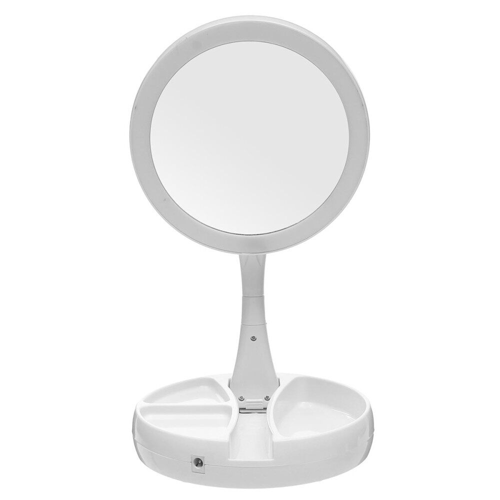 My Fold Away Mirror Led-Illuminated Double Sided 10x Magnification Makeup Mirror - Intl By Audew.